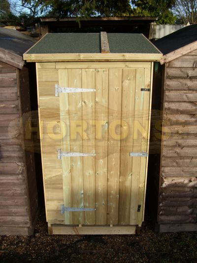 4x3ft Ministore extra strong pressure treated storage shed